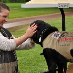 USA Clay Shoot - Thanking the service dog for his hard work!