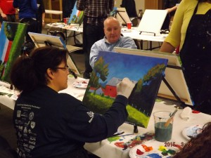 Walter Reed Paint Night 1
