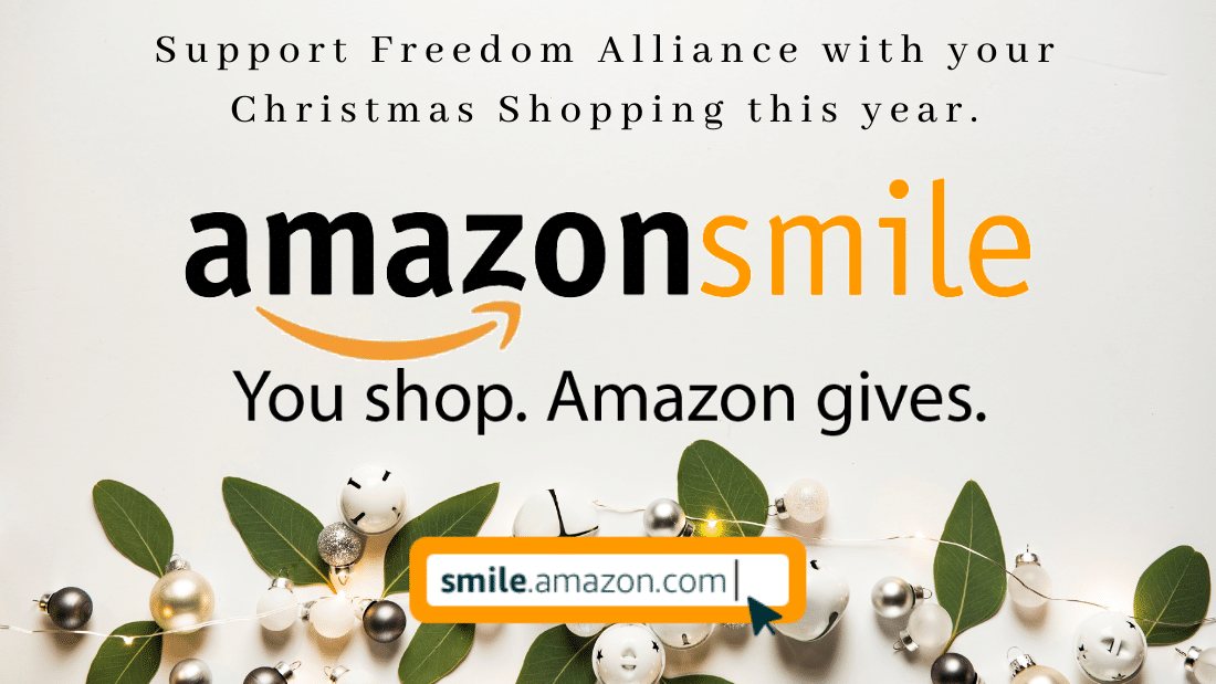 Select Freedom Alliance as your AmazonSmile donation Recipient