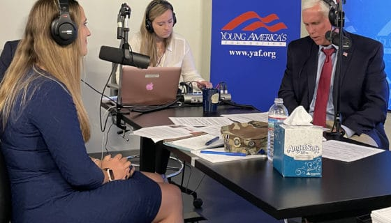Freedom Alliance Scholar Brandi Anderson talks with Former Vice President Mike Pence
